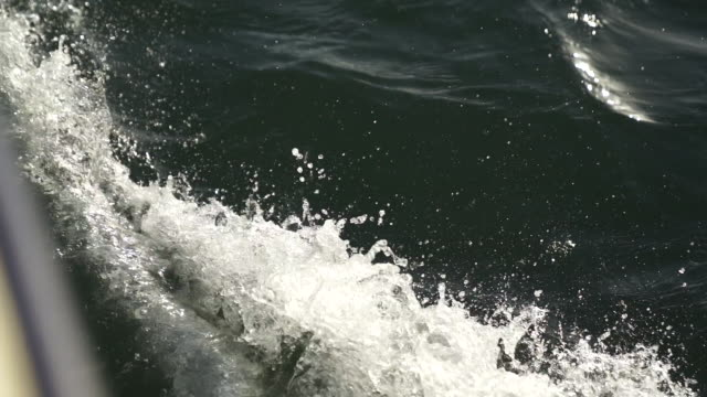 slow motion shot of a boats wake - wake water stock videos & royalty-free footage