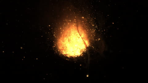 slow motion shot of molten iron exploding in a small bowl. - sparks stock-videos und b-roll-filmmaterial