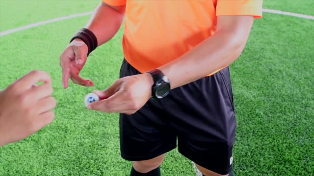 slow motion shot of referee throws coin to determine the team. - rules stock videos & royalty-free footage