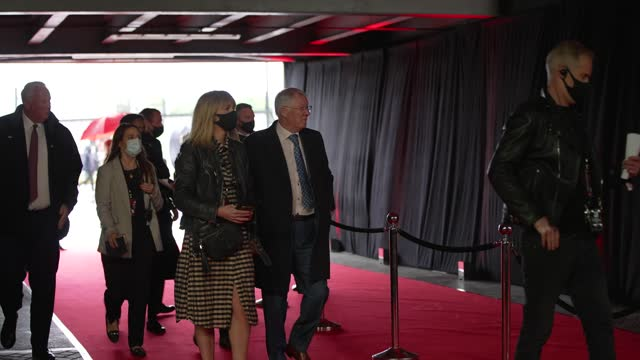 """slow motion - sir alex ferguson attends the """"sir alex ferguson: never give in"""" world premiere at old trafford on may 20, 2021 in manchester, england. - premiere stock videos & royalty-free footage"""