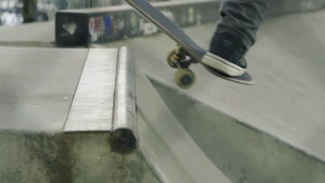 slow motion skateboarding - human limb stock videos & royalty-free footage