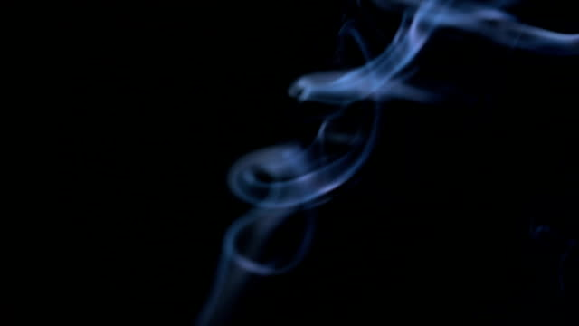 slow motion: smoke blue light - wispy stock videos and b-roll footage