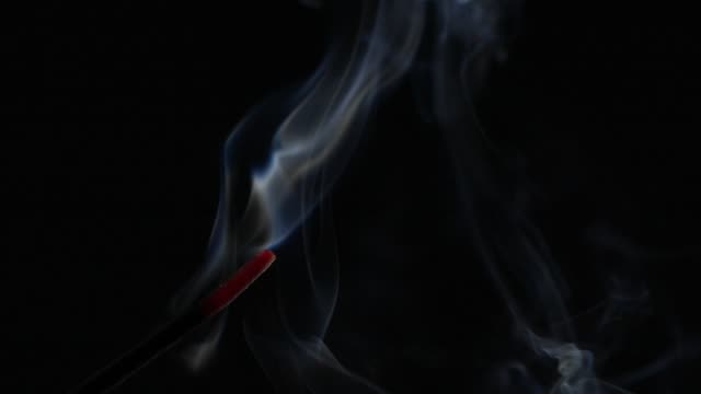 slow motion smoke from aromatherapy stick - incense stock videos & royalty-free footage