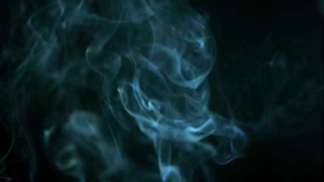 Slow Motion: Smoke turquoise light