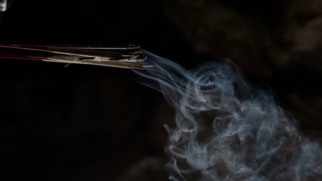 slow motion : smoke - incense stock videos & royalty-free footage