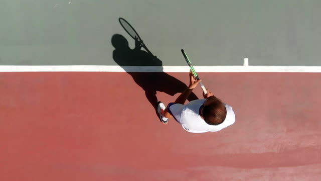 slow motion tennis player - tennis stock videos and b-roll footage