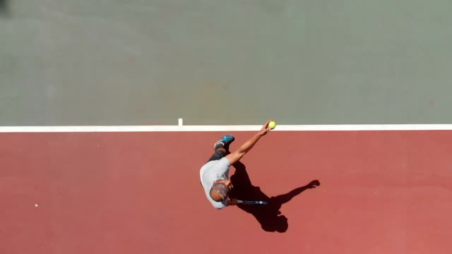 slow motion tennis player - court stock videos and b-roll footage