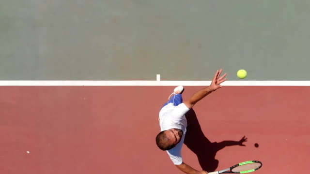 slow motion tennis player - court stock videos & royalty-free footage
