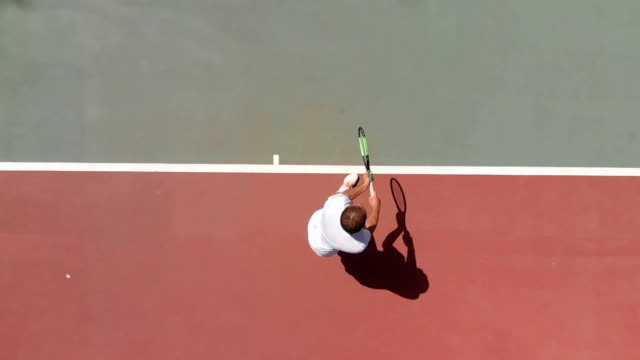 slow motion tennis player - serving sport stock videos and b-roll footage