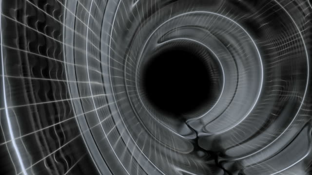 Slow Motion Tunnel on Black Background