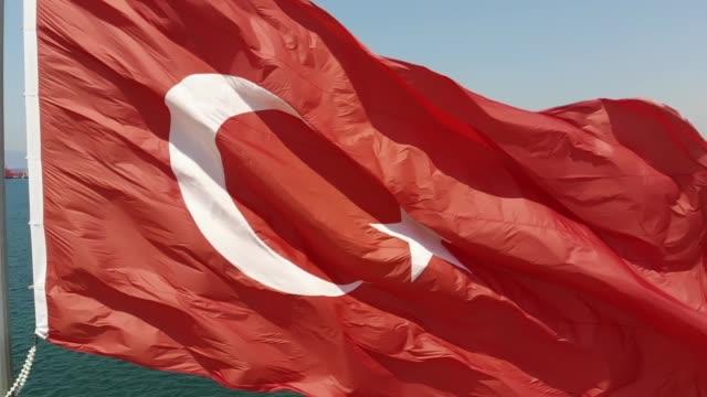 Slow-Motion türkische Flagge