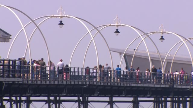 slow motion view of southport pier - slow stock videos & royalty-free footage