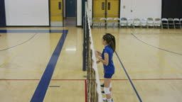 Slow Motion volleyball player spiking