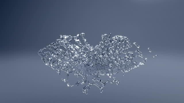 Slow Motion Water Splash with alpha