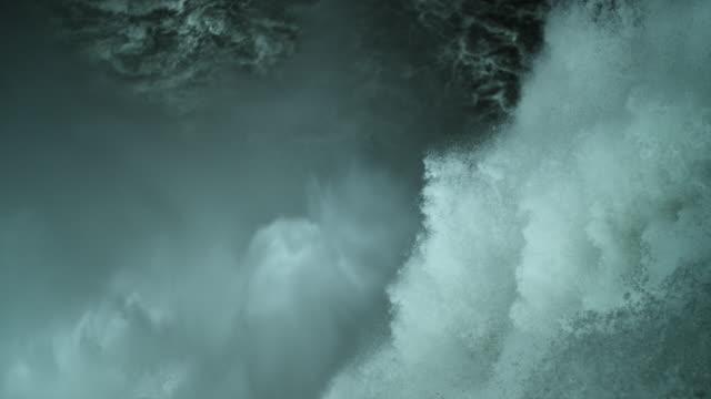 slow motion yellowstone falls upper falls waterfall - river yellowstone stock videos & royalty-free footage