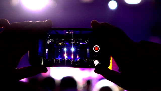 Slow motion:Smartphone at a music concert
