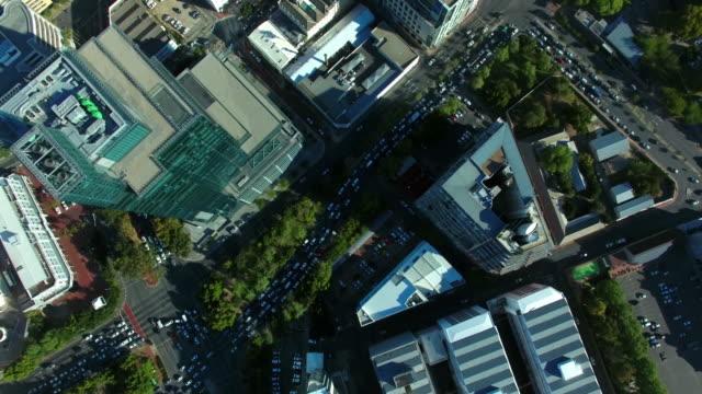 Langsam fließenden Verkehr in der City of Cape Town