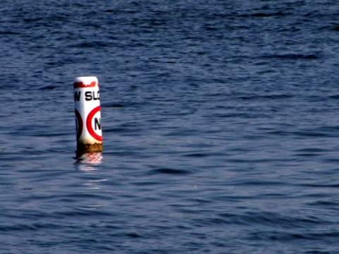 slow no wake ntsc - buoy stock videos & royalty-free footage