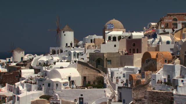 slow pan of santorini - see other clips from this shoot 1144 stock videos & royalty-free footage