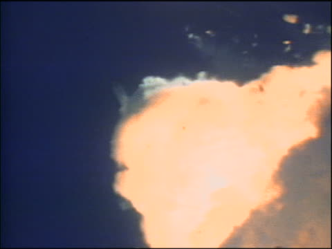 slow time lapse extreme close up explosion of space shuttle challenger with debris + rocket booster - 1986 stock videos & royalty-free footage
