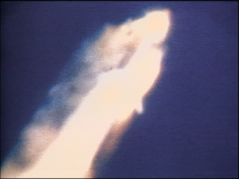 slow time lapse of explosion development on space shuttle challenger - 1986 stock videos & royalty-free footage