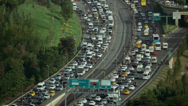 Slow Traffic On Istanbul Beltway