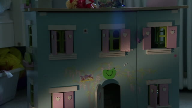 Slow zoom in on a doll's house