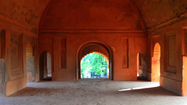 slow zoom inside the ahom kings architecture  rang ghar. - lime stock videos and b-roll footage