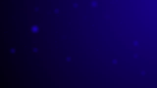 slowly moving dark blue bokeh, glitter lights, defocused light reflections on a colored gradient 4k loopable blurred motion video for concepts of winter, snow, love, transitions, christmas, party-social events, celebration events, birthday events - less than 10 seconds stock videos & royalty-free footage