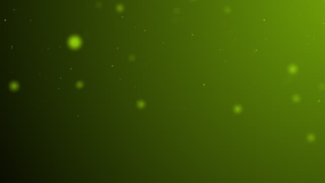 slowly moving green bokeh, glitter lights, defocused light reflections on a colored gradient 4k loopable blurred motion video for concepts of winter, snow, love, transitions, christmas, party-social events, celebration events, birthday events - less than 10 seconds stock videos & royalty-free footage