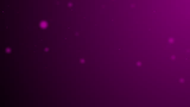 slowly moving magenta bokeh, glitter lights, defocused light reflections on a colored gradient 4k loopable blurred motion video for concepts of winter, snow, love, transitions, christmas, party-social events, celebration events, birthday events - less than 10 seconds stock videos & royalty-free footage