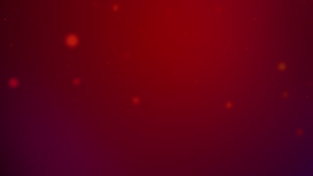 slowly moving red bokeh, glitter lights, defocused light reflections on a colored gradient 4k loopable blurred motion video for concepts of winter, snow, love, transitions, christmas, party-social events, celebration events, birthday events - less than 10 seconds stock videos & royalty-free footage