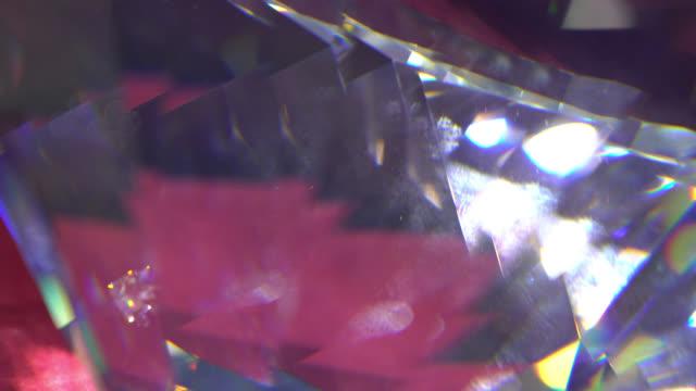 slowly rotating diamond, close up. - refraction stock videos & royalty-free footage