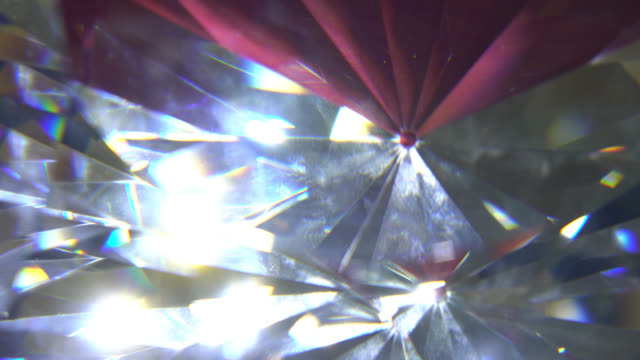 Slowly Rotating Diamond, Close Up.
