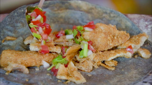slow-motion preparing filling for mexican taco - mexican food stock videos & royalty-free footage