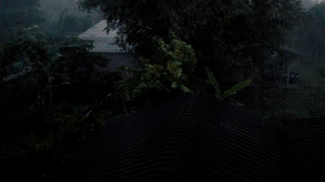 HD slow Motion: Regen auf Dach