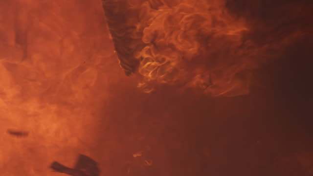 vídeos de stock, filmes e b-roll de slow-motion smoke and flames filling the screen - artbeats