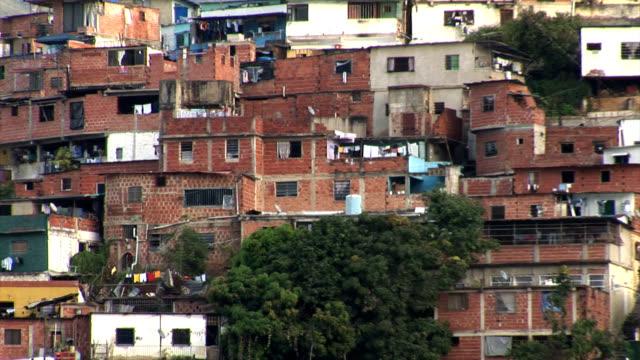 Slums in Caracas Venezuela
