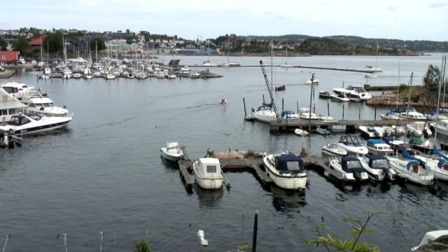 Smal boats in the marina.