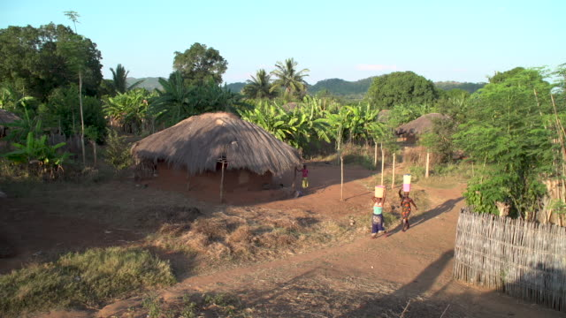small african village high angle - hut stock videos & royalty-free footage