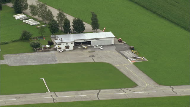 AERIAL ZO Small airport / St. Anton, Tyrol, Austria