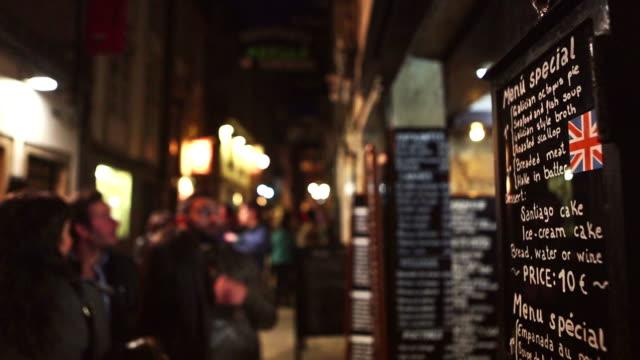 vídeos y material grabado en eventos de stock de small alleys and windows of santiago de compostela, spain - camino santiago