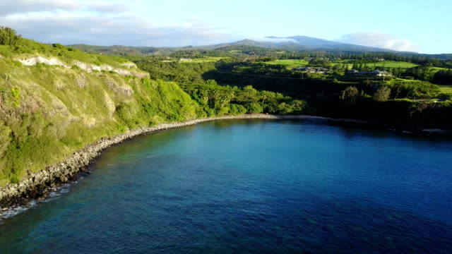 small bay of still water on egde of maui island - maui stock videos & royalty-free footage