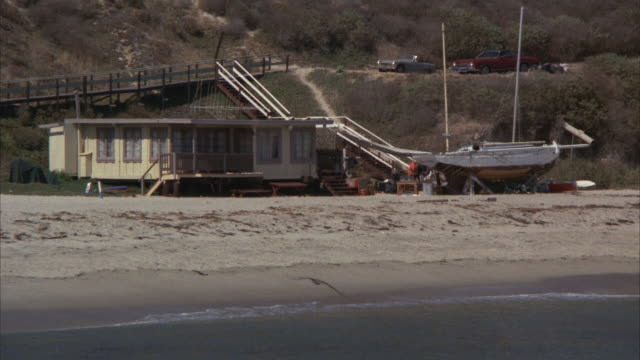ms, zi, zo, small beach house, malibu, california, usa - 1975 stock videos and b-roll footage