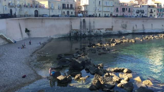 A small beach in Syracuse, Sicily