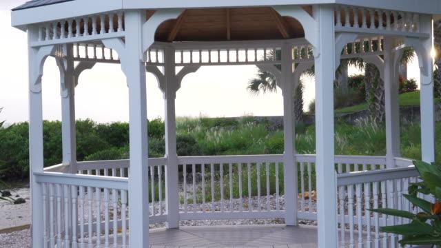 small beach pavilion - gazebo stock videos & royalty-free footage