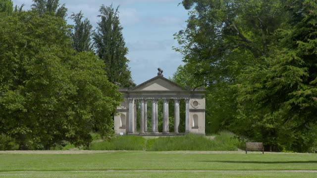 ms small building on grounds of highclere castle / hampshire, united kingdom - gazebo stock videos and b-roll footage