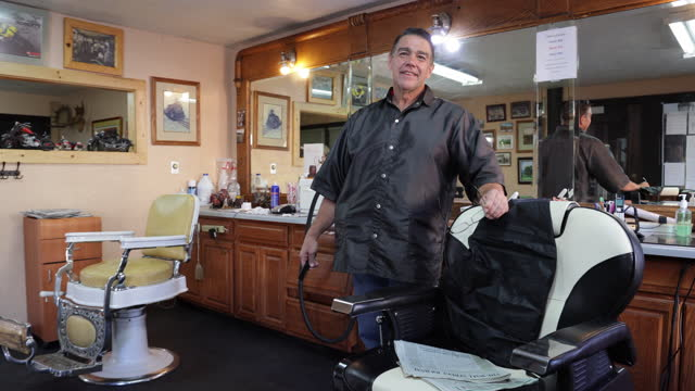 small business barber - three quarter length stock videos & royalty-free footage