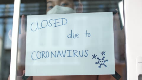 small business owner affected by coronavirus - impact stock videos & royalty-free footage