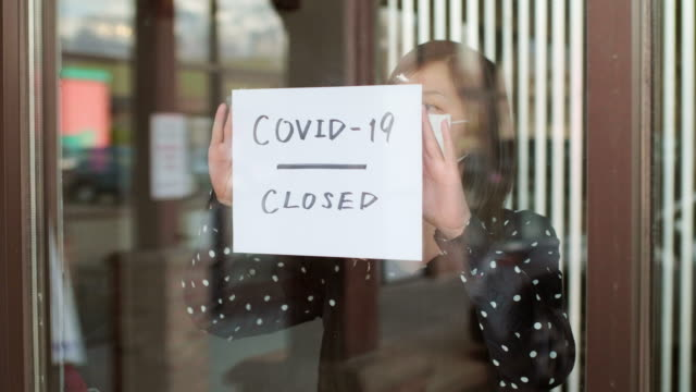 small business owner affected by covid-19 - crisis stock videos & royalty-free footage